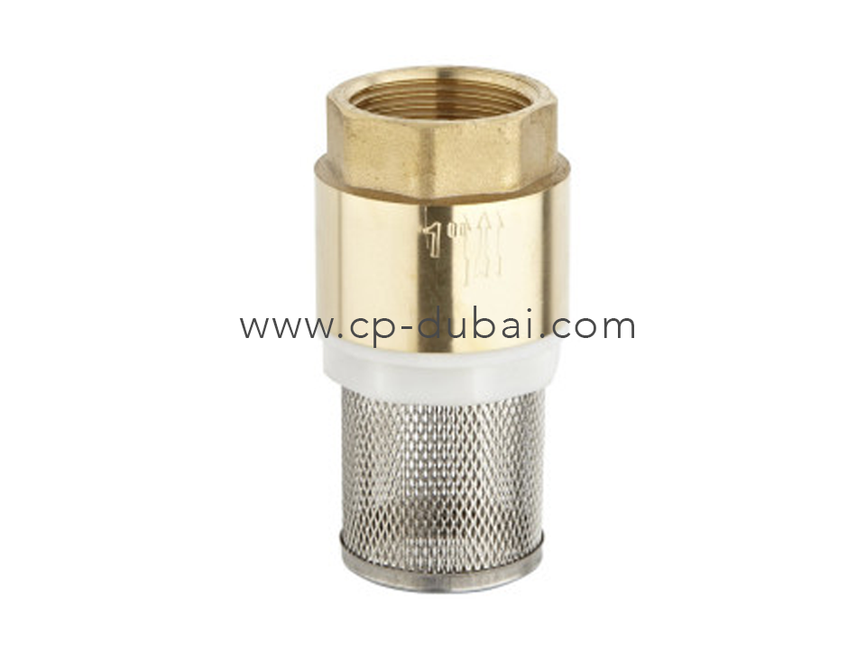 Brass check valve with filter centre point hydraulic dubai