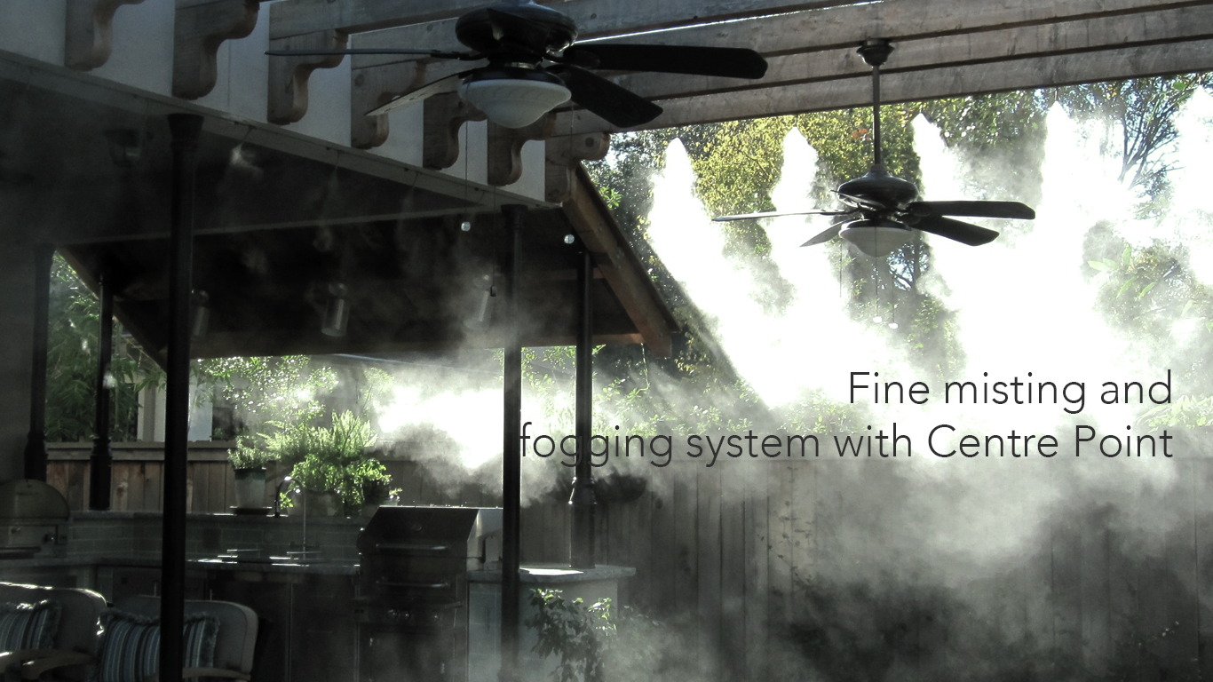 misting system with centre point hydraulic