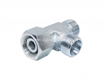 DIN Swivel Nut Run Tee Adapter Supplier in Dubai | Centre Point Hydraulic